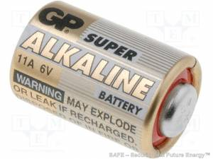 GP 11A/6V (GP Batteries Intl., China)
